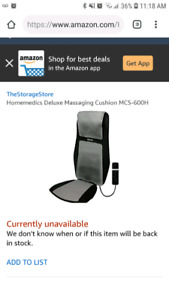 Homemedics massage cushion