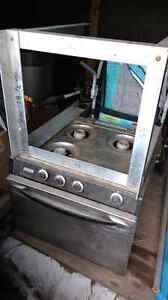 Coleman 3 burner stove with oven