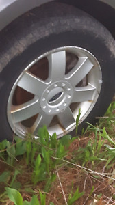 225/65/R17 Summer tires on Aluminum Rims with ford Centers