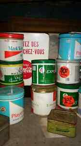 Lot de boîte de tabac tin metal
