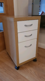 IKEA filing cabinet on castors - three drawers