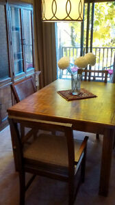 Dining Room Wall Unit with Table and 4 Chairs