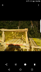 Custom Built Square Wooden Lobster Traps