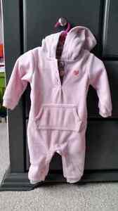 Baby Girl Fleece Suit (6 months)