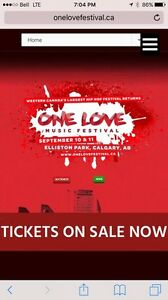 2 ga weekend passes for one love music festival calgary