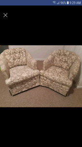 Matching camper swivel rocking chairs