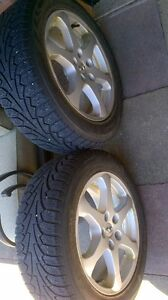 Two Infinity 5 bolt rim and winter tires Kitchener / Waterloo Kitchener Area image 1