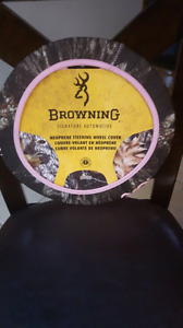 BROWNING STEERING WHEEL COVER FOR VEHICLE