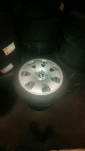 225/45R17 USED SET   WINTER TIRES RUNFLATS OF 3 SERIES BMW 90%