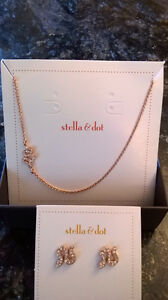 stella & dot Sidewinder necklace & earrings
