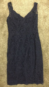 David's Bridal Navy Blue Lace dress