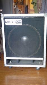 JBL E140 in custom cabinet