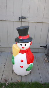 "Vintage 40"" light up Frosty blow mold."