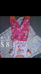 Matching baby girl pjs 0-3 and 18-24 mo
