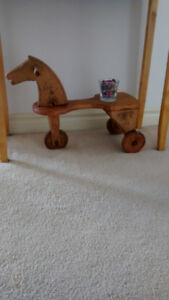 Antique wood toy horse