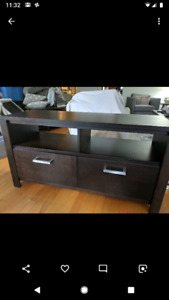 Solid wood entertainment unit 48 inches