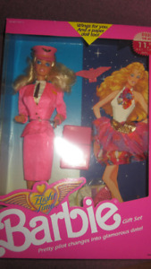 1989 Flight Time Barbie doll Gift Set