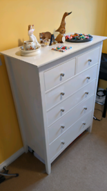 M&S Hastings 6 Drawer Chest White