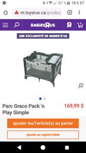 ***Parc Graco Pack 'n Play-TRÈS BON ÉTAT***