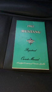 1967 Mustang registered owners manual