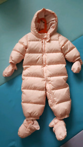 GAP Down Puffer Snowsuit 12-18m