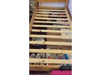 Single bed frame pine