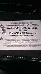 Oktoberfest tickets Oct 12th