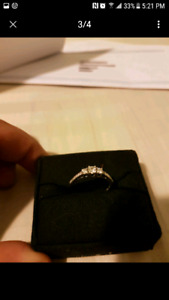 10 kt white gold engagement ring for sale $400