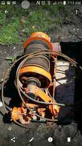 15 ton Tulsa winch and adjustable gin poles