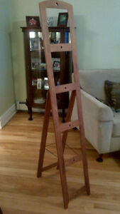 5-photo wooden ladder easel frame - $30.00