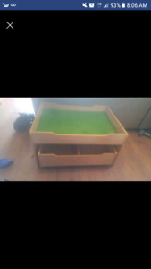 Toy table and drawer
