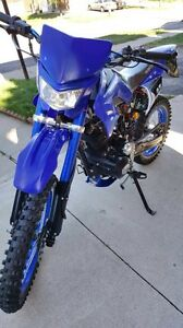250cc Avantis Dirt Bike- With Upgrades/ helmet