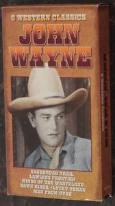 6 Western Classics John Wayne VHS movie Like new.