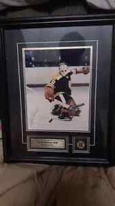 Gerry Cheevers Autographed Framed Picture !! W/coa