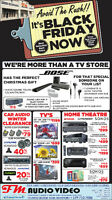 BLACK FRIDAY SALE STARTS NOW @ FM AUDIO VIDEO