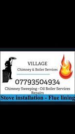 Chimney sweep - oil boiler servicing