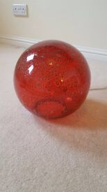 Red Glass Sphere Lamp