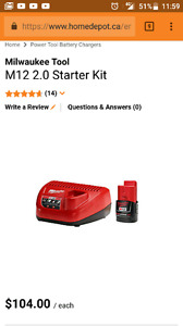 Milwaukee M12 Battery and Charger starter kit