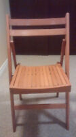 Folding Wooden Chair - Like New