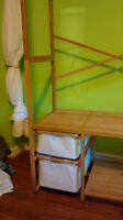 Get a 2nd closet instantly - bamboo self-supporting wardrobe