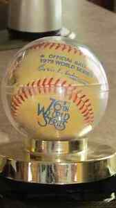 BASEBALL *OFFICIAL BALL* 1979 WORLD SERIES 76TH WORLD SERIES +