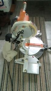 "Ridgid 10"" Compound Miter Saw & Mastercraft Folding Stand"