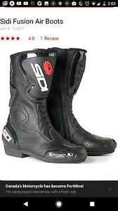 Sidi fusion air motorcycle boots sz 9-10.5 Like new $200