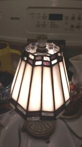 Small Tiffany Style Stained Glass Lamp