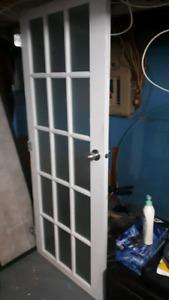 Porte intérieur carrelage en verres