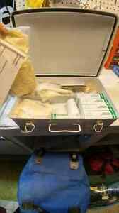 First aid kit in steel hangable box with handle London Ontario image 2