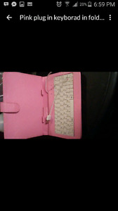 Pink keyboard for ipad or tablet