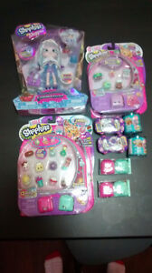 Huge lot of NEW Shopkins + limited edition Shoppies doll