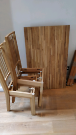 Dining table & 4 chairs (Urgent)