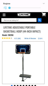 Lifetime brand basketball net and stand.  very good condition